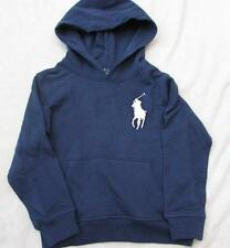 POLO RALPH LAUREN toddler boys 2T navy blue napless fleece French terry hoodie