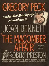 "1947 Vintage Movie Ad for ""The Macomber Affair"" Gregory Peck`Hemmingway"