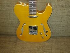 SPECIAL EDITION HOLLOW BODY TELE STYLE ELECTRIC GUITAR MAPLE FLAME TOP