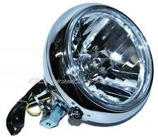 "7"" H4 Crystal Motorcycle Headlight Housing Headlamp Bucket Assembly Fits: Harley"