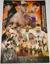 WWE PROGRAM SIGNED BY 7 STARS EDGE BETH PHOENIX NATALYA TYSON KIDD BARRETT ROSA