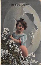 BG9081 girl child egg flower ostern easter greetings germany