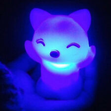 Color Changing LED Fox Cat Candle Night Light Lamp Battery Power