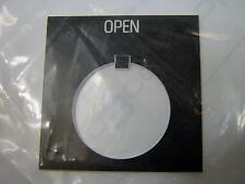 "8 ea C3Controls LP-14 White on Black Open Label 2"" x 2"" Switch Legend Plate NIB"