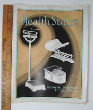 RARE - Original Catalog 1929  Continental & Chicago Company Health Scales