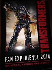 Transformers Botcon 2014 Universal Studios Fan Experience Lithograph Exclusive