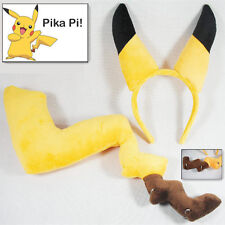 Pokemon Pikachu Yellow Tail and Ears Hair Clasp Anime Cosplay Costume