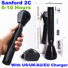 Sanford 2C 1000meter CREE LED TACTICAL RECHARGEABLE POLICE FLASHLIGHT TORCH SET