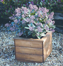 Tom Chambers Tatton Wooden Garden Patio Planter - Wooden Timber Planter