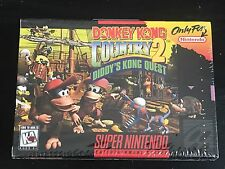 Donkey Kong Country 2 SNES factory Sealed 1st print Made In Japan Super Nintendo
