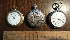 Vintage Pocket Watches x 3 American Waltham & Splendid Steampunk Repair