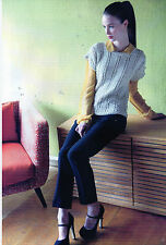 ~ Knitting Patterns For Lady's Ladder Stitch Top & Diamond Cable Top ~