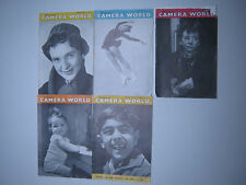 RARE 1955 VINTAGE MINIATURE CAMERA WORLD 5 MAGAZINES