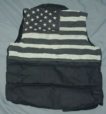 NEW Denim & Supply Ralph Lauren USA Flag Black Vest Sz Small  Ret $145.00 L@@K!