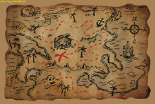 PIRATE TREASURE MAP PARTY BAG TOY PRO FANCY DRESS ACCESSORY All New Design