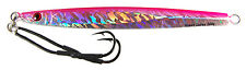 "gypsy lures saltwater speed jig 200g 7oz  pink holo butterfly jig 8"" long"