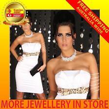 Womens Ladies Jewellery Wedding Bridal Crystal Rhinestone Necklace Earrings Set