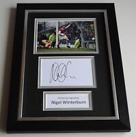 Nigel Winterburn Signed A4 FRAMED photo Autograph display Arsenal Football & COA