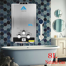 Home 8L Natural Gas Instant Household Hot Water Heater Boiler Stainless Steel