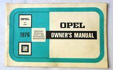 1976  OPEL KADETT OWNERS MANUAL ORIGINAL