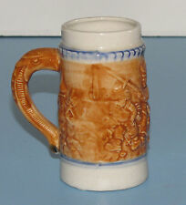 """VINTAGE MINIATURE STEIN MUG CUP MADE IN JAPAN SMALL 3-3/4"""" TALL SERPENT HANDLE"""