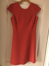 DALIA Women Dress Sz 2 Red/ Bloody Orange Short Sleeve Fit And Flare New