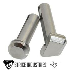 Strike Industries Quick Enhanced Extended Takedown Pins Silver Large Rear/Front