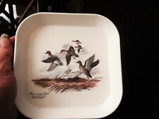 VINTAGE RETRO SMALL SQUARE NIBBLES TRAY MEBEL JAMES LOCKHART GREEN WINGED TEAL