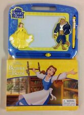 Disney Beauty & The Beast Book & Magnetic Drawing Board Doodle Pad Art Toy Belle