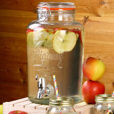 Kilner 5 Litre Glass Drinks Dispenser 5L Storage Jar Beverage Cocktail Beer Wine