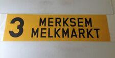 """Antwerp Tram Bus Roll Blind 1984 40""""- 3 Merksem Melkmarkt"""