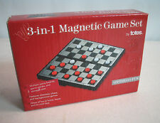 Travel Magnetic Chess Set, Checkers & Backgammon 3 in 1 game Free Shipping, New