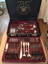 Cutlery Set  84 Piece 18/10 24ct Gold Plated