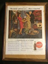 1945 Coca-Cola ad -Coke ad -Coming Home, From War, With New Wife ---k326 16 X 12