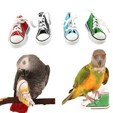 Mini Canvas Shoes Bird Toy Parrot Cage Hanging Craft Toys Cockatiel Foot Toys