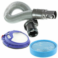 Grey Stretch Hoover Hose & Pre / Post Filter Kit for DYSON DC25 Vacuum Cleaner