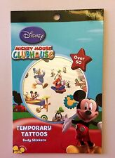 Mickey Mouse Clubhouse Temporary Tattoos 56 Body Stickers Disney Party New