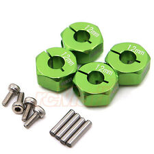 GPM Alum Alloy Hex Adapter 12mmX7mm Green Axial EXO SCX10 Wraith #AX010/12X7MM-G