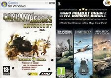 company of heroes anthology & world war two ww2 combat bundle   new&sealed