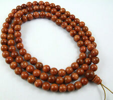 8mm Tibetan Buddhism 108 Gold sandstone Prayer Bead Mala