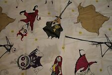 Nightmare Before Christmas Twin Flat Bed Sheet Craft Fabric Jack Skellington