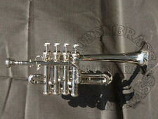 PICCOLO TRUMPET SILVER PLATED .Quality ,BRAND,NEW With Case