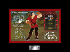 DISNEY GASTON CHARACTER KEY LE 500 CEL NEW Beauty & The Beast # 79 ACME ARCHIVES