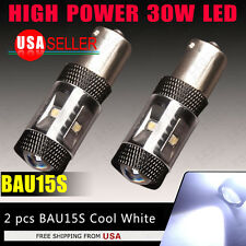 2X Cool White High Power BAU15S 30W Projection LED Lights Turn Signal PY21W 7507