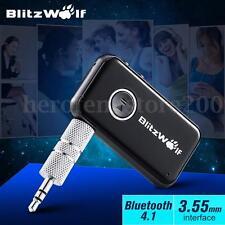 BlitzWolf Bluetooth Wireless Car Music Receiver 3.5mm AUX Audio Adapter Phone
