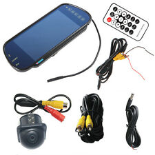 "7"" MP5 Bluetooth Car Rearview Mirror Monitor+Night Vision Vehicle Reverse Camera"