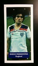 ENGLAND - NAPOLI - DIEGO MARADONA - Score UK football trade card