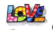 ROMERO BRITTO MINIATURE TABLE DECOR: LOVE    ** NEW **
