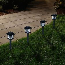 Pure Garden Set of 6 Solar LED Lantern Shaped Pathway Lights