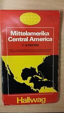 Central America: Road Map With Excusions: Hallwag Map (M12)